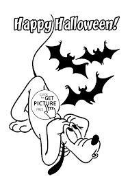 Small Picture Halloween and Pluto coloring page for kids printable free