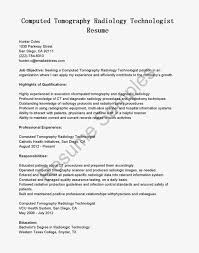 Radiologic Technologist Resumes Best Of X Ray Tech Cover Letter