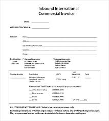 Commercial Invoice 30 Commercial Invoice Templates Word Excel Pdf Ai Free