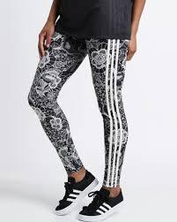 adidas 3 stripe leggings. adidas florido lace 3 stripes leggings multi stripe e