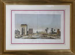 antique wood picture frames. Large Pair Of Hand Coloured Engravings Egypt In Gilt Wood Frames Antique Picture