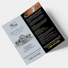 Jewelry Flyer Serious Upmarket Jewelry Flyer Design For Don Parker Mfg