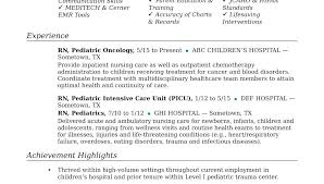 Resume Pediatric Nurse Nurse Manager Job Description Template Job Description For A