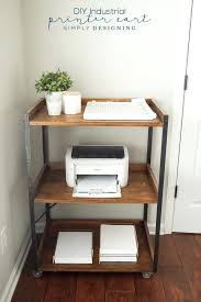 office space saving ideas. Home Office Space Ideas Industrial Printer Cart Saving R