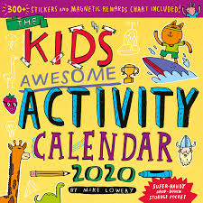 Kids Awesome Activity Wall Calendar 2020