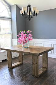 modern dining table. How To Build A DIY Husky Modern Dining Table. Free Plans By Jen Woodhouse. Table R