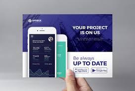 Design Flyer App Mobile App Flyer Template Psd Ai Vector Brandpacks