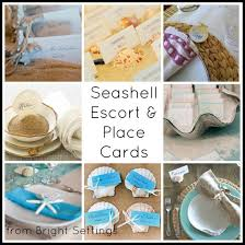 seashell escort and place cards the bright ideas blog Beach Themed Wedding Place Cards seashell escort or place cards a collection of great beach ideas for parties and beach themed place cards for wedding