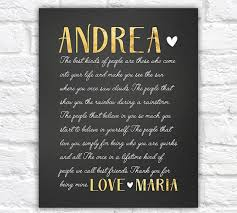 personalised gold and black cursive letter for best friend sentimental gifts for best friends