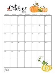 Beautiful October 2018 Design Calendar Download Free