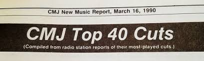 College Radio Charts 2017 College Countdown Cmj Top 40 Cuts March 16 1990 An