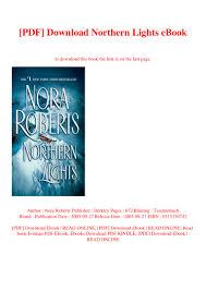 Northern Lights Book Pdf Download Pdf Download Northern Lights Ebook