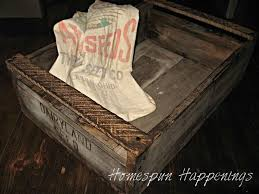 homespun happenings rustic pallet tray box old palletswooden