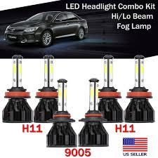 2014 Camry Light Bulb Size Details About 9005 Led Headlight Bulb High Beam H11 Fog Lamp Combo Kit For Toyota Camry 2014