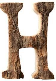 wooden letter h hanging sign wood