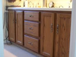 Painted Bathroom Cabinets Painting Bathroom Vanity With The Primer And Paint All In One We