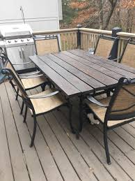 patio furniture makeover patio table top