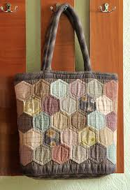 Hexagon Quilt Patchwork Bag. ~ DIY Tutorial Ideas! & How to make zippered bag. Daily Quilt Bag Pattern - Japanese Craft, Easy  Quilting Adamdwight.com