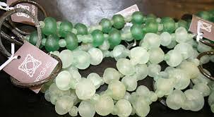 tiebacks made from nigerian recycled glass beads