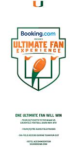 University Of Miami Game Design Booking Fan Experience University Of Miami Athletics