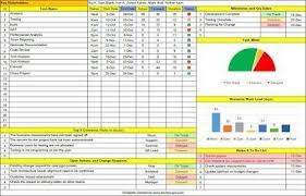 Project Management Templates One Page Project Manager Excel Template Free Download
