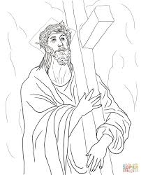Stations Of The Cross Coloring Pages Pdf Printable Coloring Page