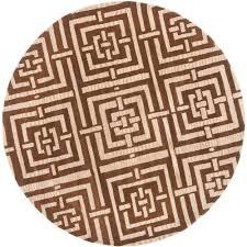 safavieh wyndham brown 7 ft x 7 ft round area rug
