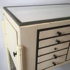 Antique Metal Dental Cabinet A Metal Dental Cabinet 1950s The Hoarde