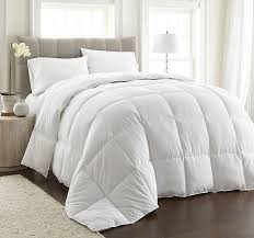 chezmoi collection goose down alternative comforter duvet cover insert full queen size with corner tabs white ca home kitchen