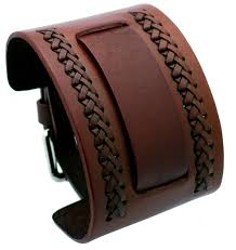 nemesis nemesis nw b brown wide leather cuff wrist watch band com