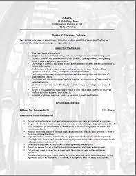 Maintenance Resume Examples Awesome Maintenance Technician Resume Occupationalexamples Samples Free