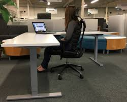 office desk view. Simple View LShaped Adjustable Height Desk View With Office I