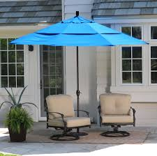 c coast 11 ft spun polyester patio umbrella with push on tilt hayneedle