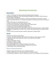 Marketing Coordinator Job Description Local Reputable Construction Manager Is Seeking A Marketing 19