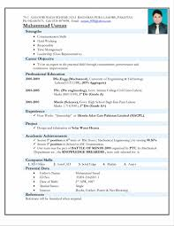 Endearing Samples Of A Well Written Resume For Graduate School