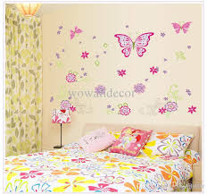 Small Picture Large Paper Flowers Decorative Butterfly Wall Stickers Home Decor