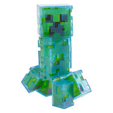 Light Up Creepers Minecraft Charged Creeper Light Up Figure Creeper