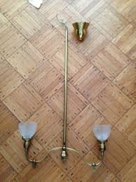 red antique victorian eastake gas style electric light chandelier fixture 416167688