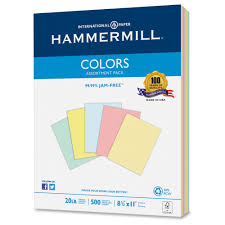 Recycled Colored Paper 20lb 8 1 2 X 11 Assorted 500 Sheets