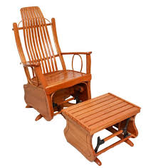 amish made glider rocker chair w ottoman amish made outdoor rocking chairs