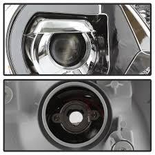 15 Toyota Tacoma LED DRL Projector Headlights - Chrome