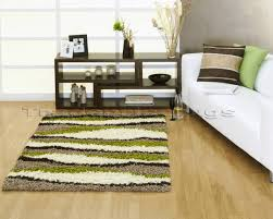 lime green cream beige brown gy stripey rug 120x160
