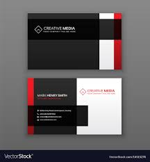 Red Design Company Red And Black Professional Business Card Design