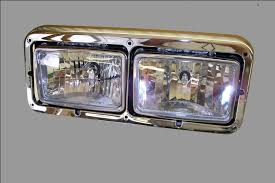 kenworth headlights kenworth headlight assembly lh driver side dual rectangle upgraded crystal bulb by atc