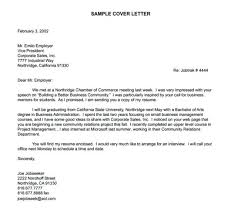 Example Cover Letter For A Job Application Example Of Writing A