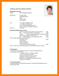 South African Cv Example Cv Template South Africa Resumes 3 How To