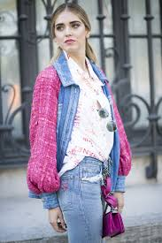 chanel jeans. chiara ferragni wears levi\u0027s x the blonde salad jeans \u0026 a chanel denim jacket