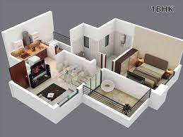 1bhk home design plans indian style 3d dr house