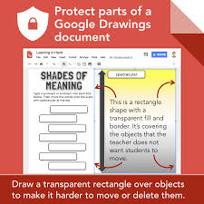Drag the blue dot that's outside of the shape. Tony Vincent On Twitter Google Drawings Does Not Have A Lock Object Option As A Workaround I Place A Transparent Rectangle Over The Area I Want To Protect Googleedu Read More