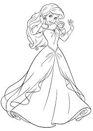 Disney Princess Coloring Pages In A Dress